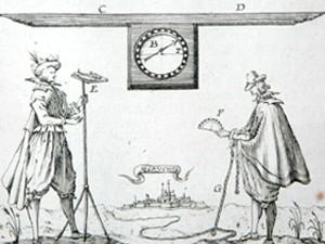 Outils permettant d'effectuer des relevés (Les Travaux de Mars par Manesson-Mallet, 1684) © Musée des Plans-reliefs