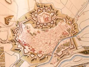 Plan de Perpignan (fin du 18e siècle) © Musée des Plans-reliefs, B. Arrigoni