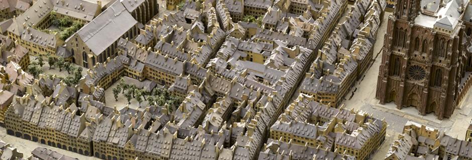 Détail du plan-relief de Strasbourg (en réserve) © Musée des Plans-reliefs, RMN-GP / R.-G. Ojéda