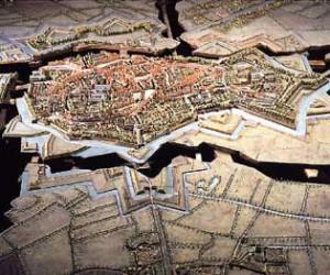 Plan-relief de Bergues démonté. ©Paris, Musée des Plans-reliefs