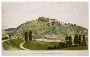 Aquarelle du Fort de Joux (Doubs). ©Paris, Musée des Plans-reliefs