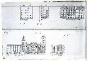 Extrait des cahiers de développement du plan-relief de Toulon. ©Paris, Musée des Plans-reliefs
