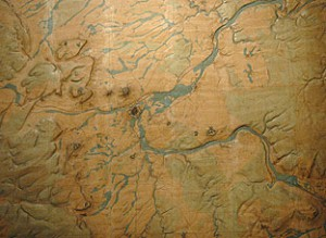 Plan directeur de Toul. Plan directeur en relief construit à la galerie en 1882. 1/20 000 - 1,50 m x 1,66 m ©Paris, Musée des Plans-reliefs