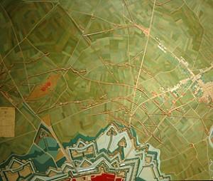 Siège de Strasbourg en 1870 Plâtre et peinture à l'huile Construit à la galerie des plans-reliefs en 1880 Echelle 1/2500 - 1,16 m x 0,94 m ©Paris, Musée des Plans-reliefs
