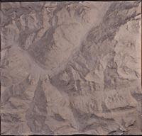 Briançon (environs), carte en relief (2)