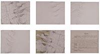 Les cinq tableaux exposés représentent les états successifs d'un fragment de plan-relief
