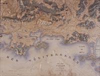 Plan relief de Toulon et ses environs