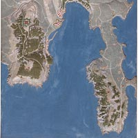 Carte en relief de Villefranche-sur-Mer