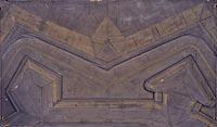 Modèle d'un front fortifié du système De Ville (1628)