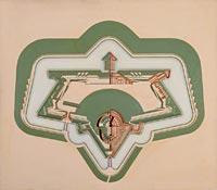 Modèle d'un fort détaché de la nouvelle enceinte d'Anvers (1860)