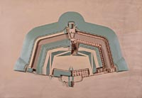 Modèle d'un type de fort allemand antérieur à 1870 (Germersheim, Allemagne)