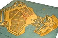 Fort de la Rade. Partie de l'île d'Aix avec le nouveau fort en bois du marquis de Montalembert, et projet de défense du côté terre (1779), Ile-d'Aix