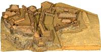 Fort de Joux (fragment d'un plan-relief détruit)