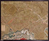 Plan-relief du siège de Strasbourg, en 1870 par l'armée allemande